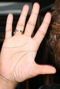 whitney houston hand